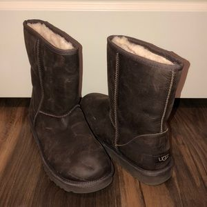 Ugg Women's Brown Leather Boots 9